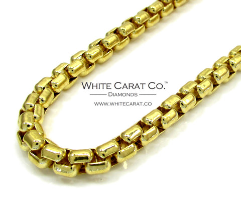 10K Gold Hexagon Link Box Chain - 5.0 mm