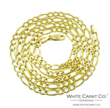 10K Solid Gold Figaro Chain - 5.5 mm