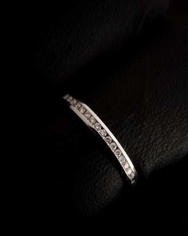 0.10 CT Diamond Wedding Band in 14K White Gold