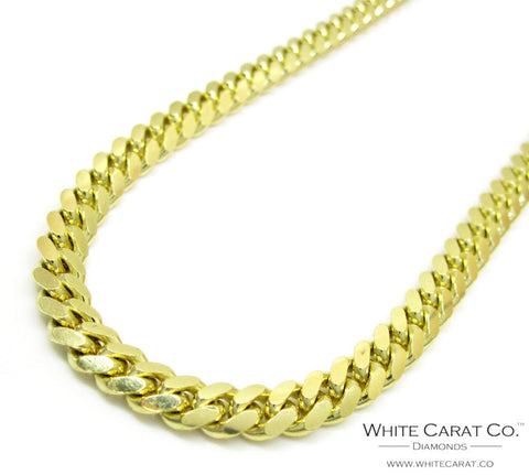 10K Gold Semi-Solid Miami Cuban Chain - 5.0 mm