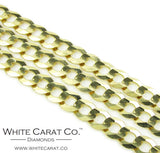 10K Gold Solid Cuban Link Chain - 6.0 mm