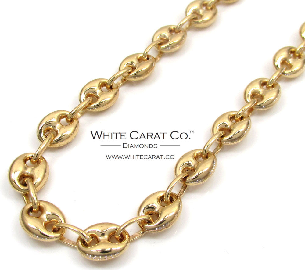 b2bf42c66 10K Gold Puffed Gucci Link Chain - 6.5 mm – White Carat Co.