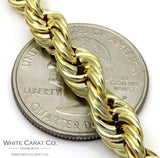 10K Gold Rope Chain - 6.5 mm