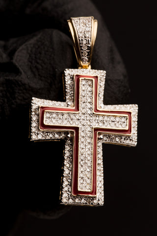 0.41 CT. Diamond Cross Pendant in 10K Gold