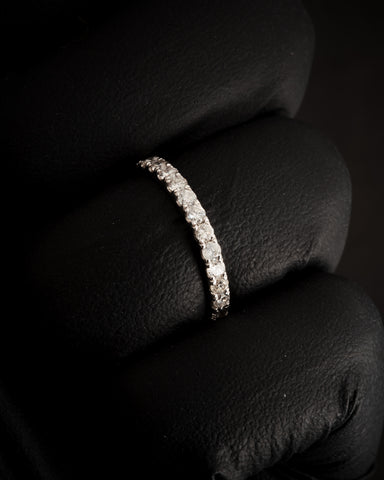 1.00 CT Diamond Eternity Band in 14K White Gold