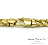 10K Gold Solid Franco Chain - 7.0 mm