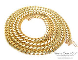 10K Gold Solid Miami Cuban Chain - 7.0 mm