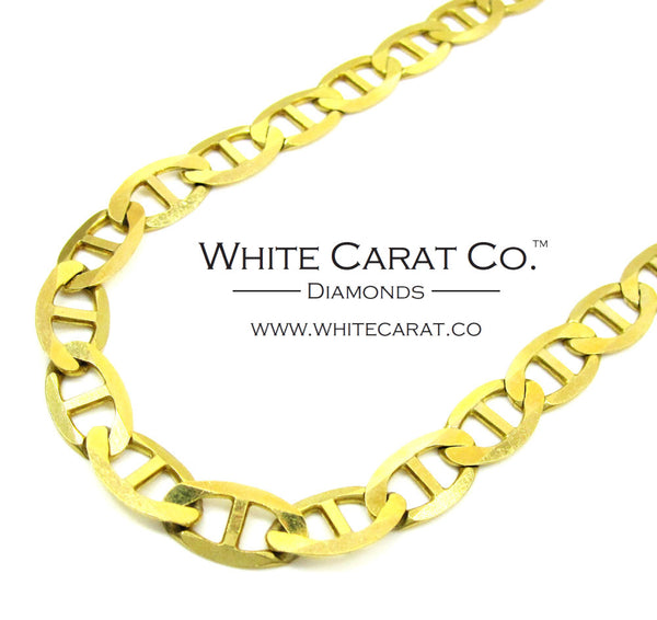 10K Solid Gold Mariner Link Chain - 7.5 mm