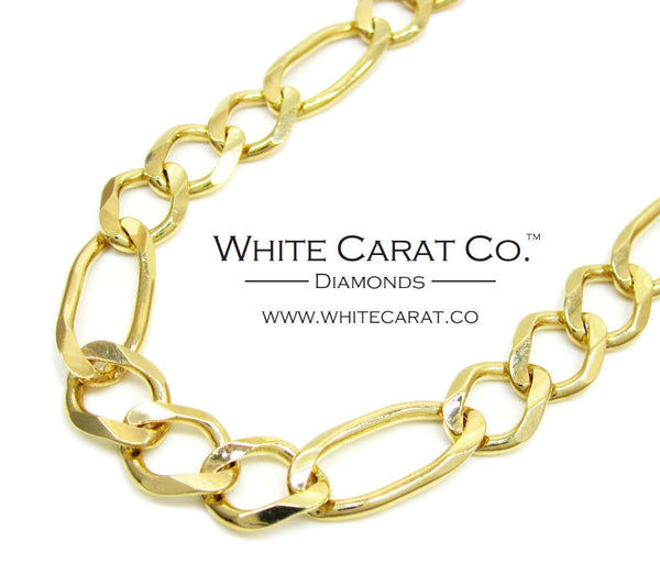 10K Solid Gold Figaro Chain - 8.0 mm
