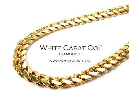 10K Gold Solid Miami Cuban Chain - 8.0 mm