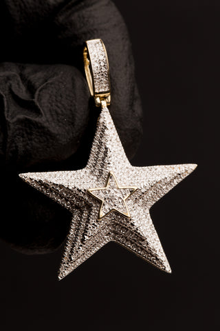 0.64 CT. Diamond Star Pendant in 10K Gold