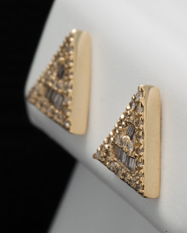 0.19 CT. Ladies' Diamond Studs in 10K Gold