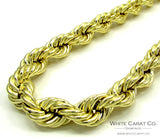 10K Gold Rope Chain - 9.0 mm