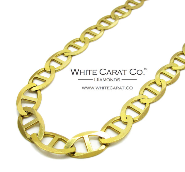 10K Solid Gold Mariner Link Chain - 9.5 mm