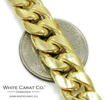 10K Gold Semi-Solid Miami Cuban Chain - 10.0 mm