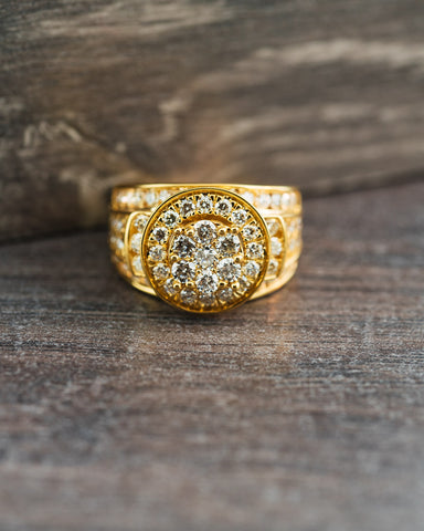 2.32 CT. Diamond Pinky Ring in 10K Gold