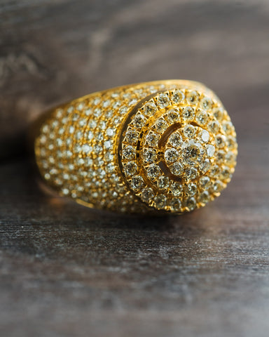 2.96 Square Circle Exclusive Diamond Ring in 10K Gold