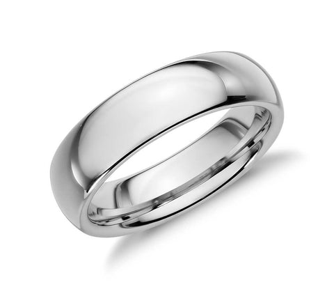 Classic Polished Tungsten Carbide Ring - White