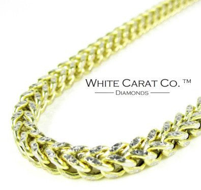 10K Gold Diamond-Cut Franco Chain - 7.0 mm