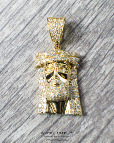 2.80 CT. Jesus Diamond Pendant in 14K Gold