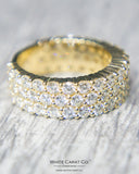 3.00 CT. Diamond Eternity Men's Ring in 10K Gold