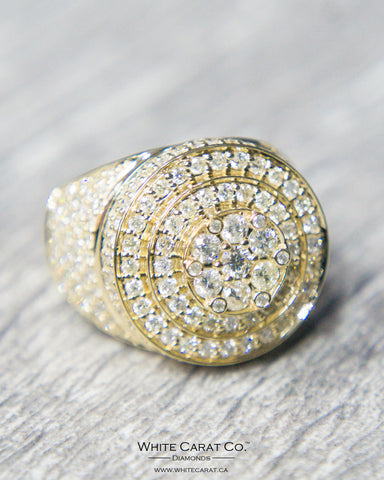 2.50 CT. Men's Exclusive Diamond Ring in 14K Gold*