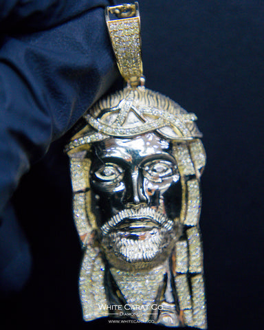 "2.00 CT. ""Jesus Head"" Pendant in 10K Gold*"
