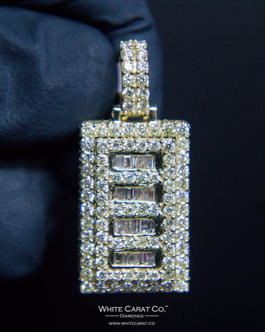 "3.00 CT. ""Rectangle Diamond"" Pendant in 10K Gold*"