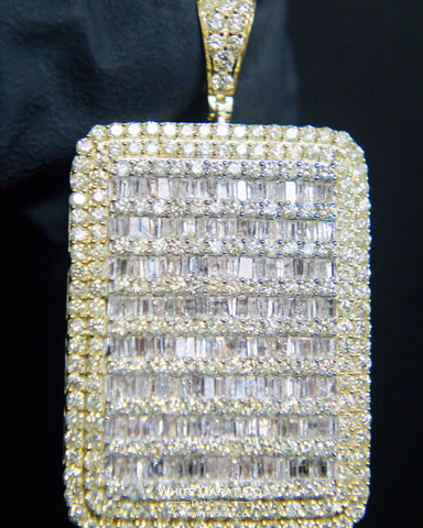 "5.50 CT. ""Large Rectangle Diamond"" Pendant in 10K Gold*"