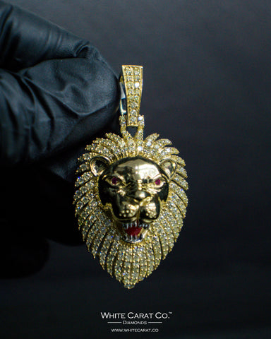 "2.00 CT. ""Lion Head"" Pendant in 10K Gold*"