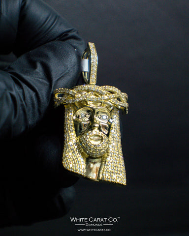 "1.50 CT. ""Jesus Head"" Pendant in 10K Gold*"