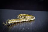 7.00 CT.  Claw Setting Tennis Diamond Bracelet in 10K Gold