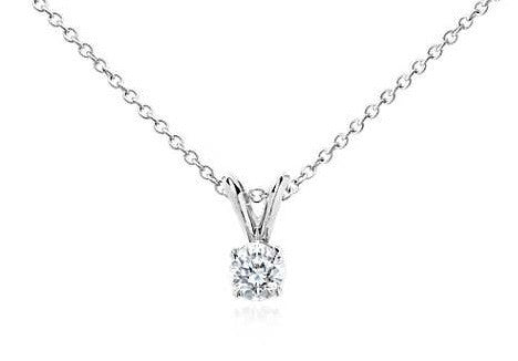 1/2 CT. Diamond Solitaire Pendant in 14K White Gold