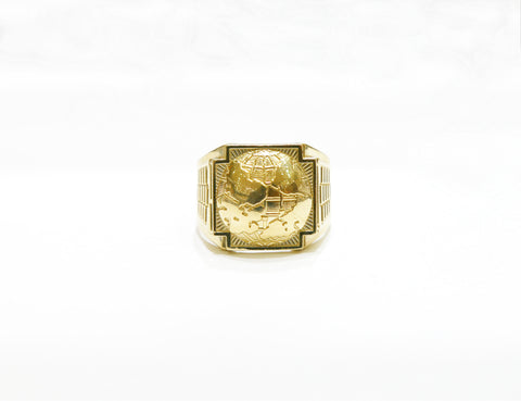 Globe Ring in 10K Gold