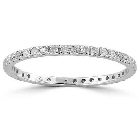 0.44 CT Eternity Band in 14K White Gold