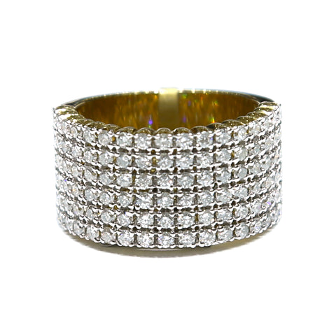 1.33 CT. Round Cut Diamond Ring in 10K Yellow Gold