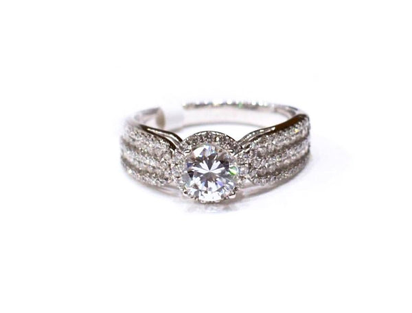 1.90 CT. Princess-Cut Diamond Ring in White Gold