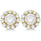 1.5 CT. Halo Diamond Earrings in 14K Gold