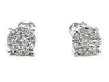 0.74 CT. Halo Diamond Earrings in 14K Gold