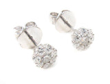 0.55 CT. Diamond Cluster Earrings in 14K White Gold