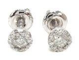 0.71 CT. Halo Diamond Earrings in 14K White Gold