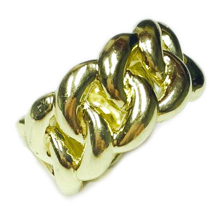 10K Solid Gold Miami Cuban Ring - 11mm Wide