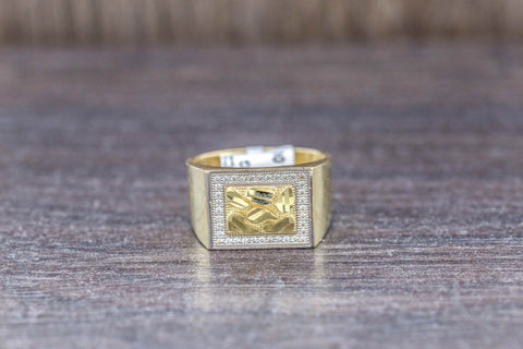 Nugget Ring in 10K Gold