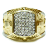 0.90 CT. Embellished Diamond Ring in 10K Yellow Gold