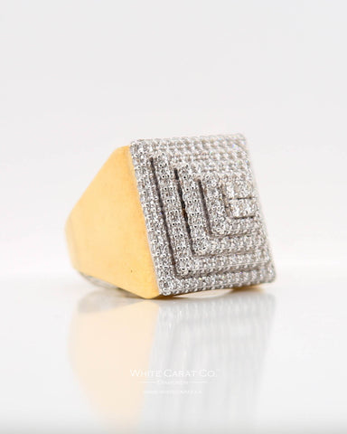 2.50 CT. Exclusive Men's Diamond Ring in 10K Gold