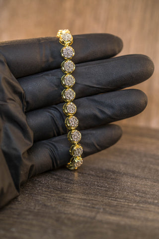 3.97 CT. DIAMOND ROW TENNIS BRACELET IN 10K GOLD
