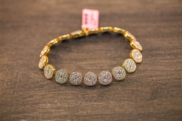 11.98 CT. DIAMOND ROW TENNIS BRACELET IN 10K GOLD