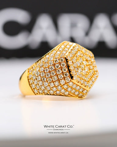 3.02 CT. Exclusive Men's Diamond Ring in 10K Gold