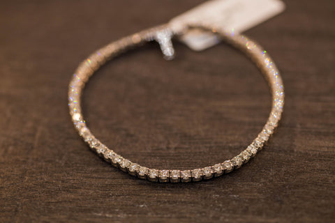 3.95 CT. DIAMOND TENNIS ROW BRACELET IN 14K GOLD