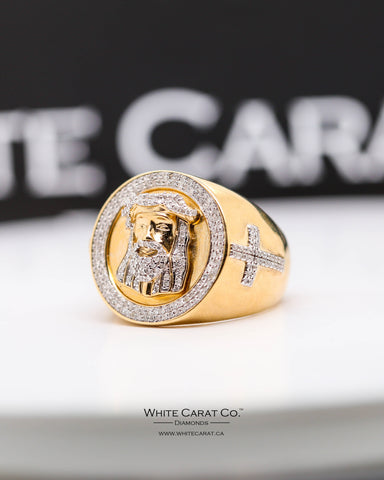 0.68 CT. Exclusive Men's Diamond Ring in 10K Gold